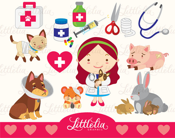 Clipart veterinarian svg royalty free Veterinarian love clipart set/ instant download - 14007 | Planner ... svg royalty free