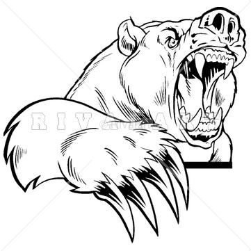 Clipart vicious image Mascot Clipart Image of Vicious Bear With Large Claws | Mascot ... image