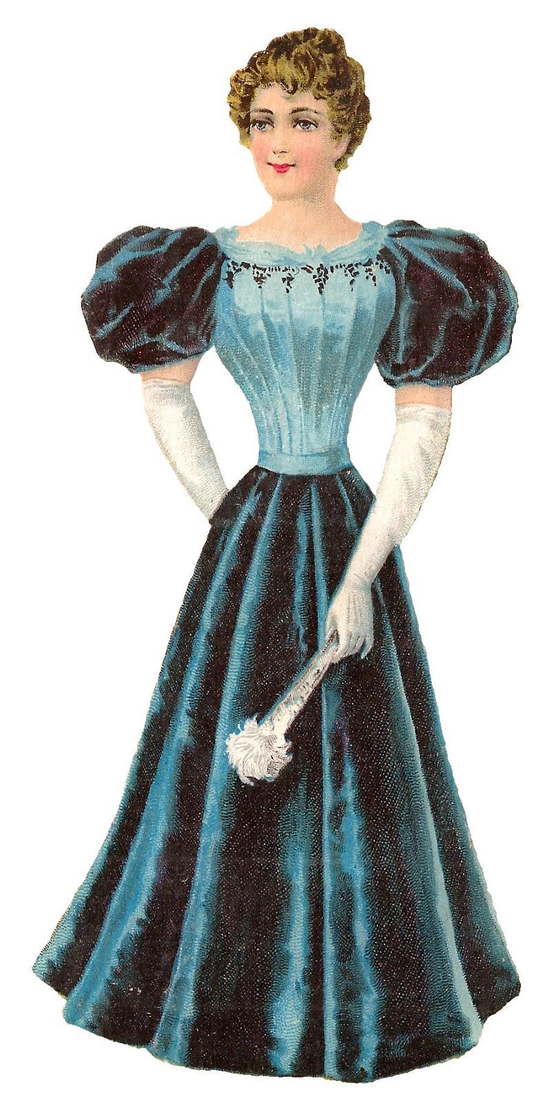 Clipart victorian women picture freeuse download Antique Images: Victorian Women\'s Fashion Clipart Evening Dress Ball ... picture freeuse download