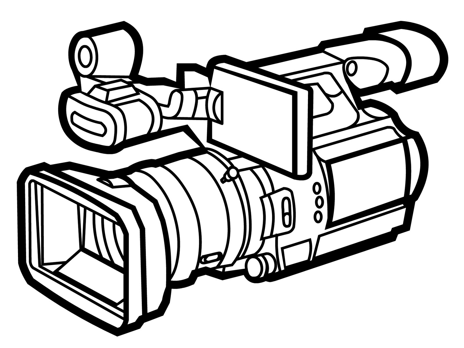 Clipart video camera svg black and white library 61+ Video Camera Clipart | ClipartLook svg black and white library