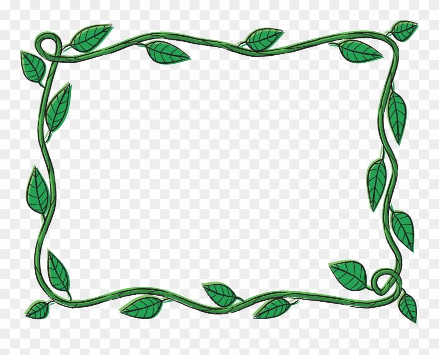 Vine frame clipart png transparent Vine Border Clip Art At Clker - Picture Frame - Png Download ... png transparent