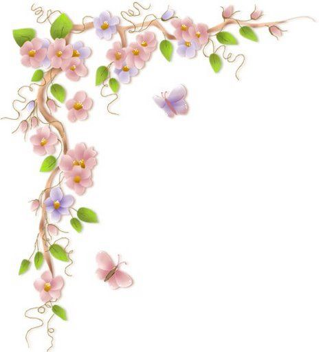 Clipart vines and flowers banner freeuse Flower Vine Border Clipart - Clipart Kid banner freeuse
