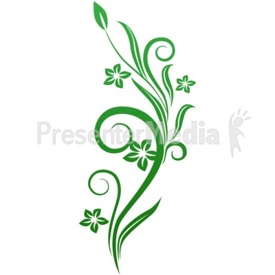 Clipart vines and flowers clip free library Vines Swirl Green Flowers - Wildlife and Nature - Great Clipart ... clip free library