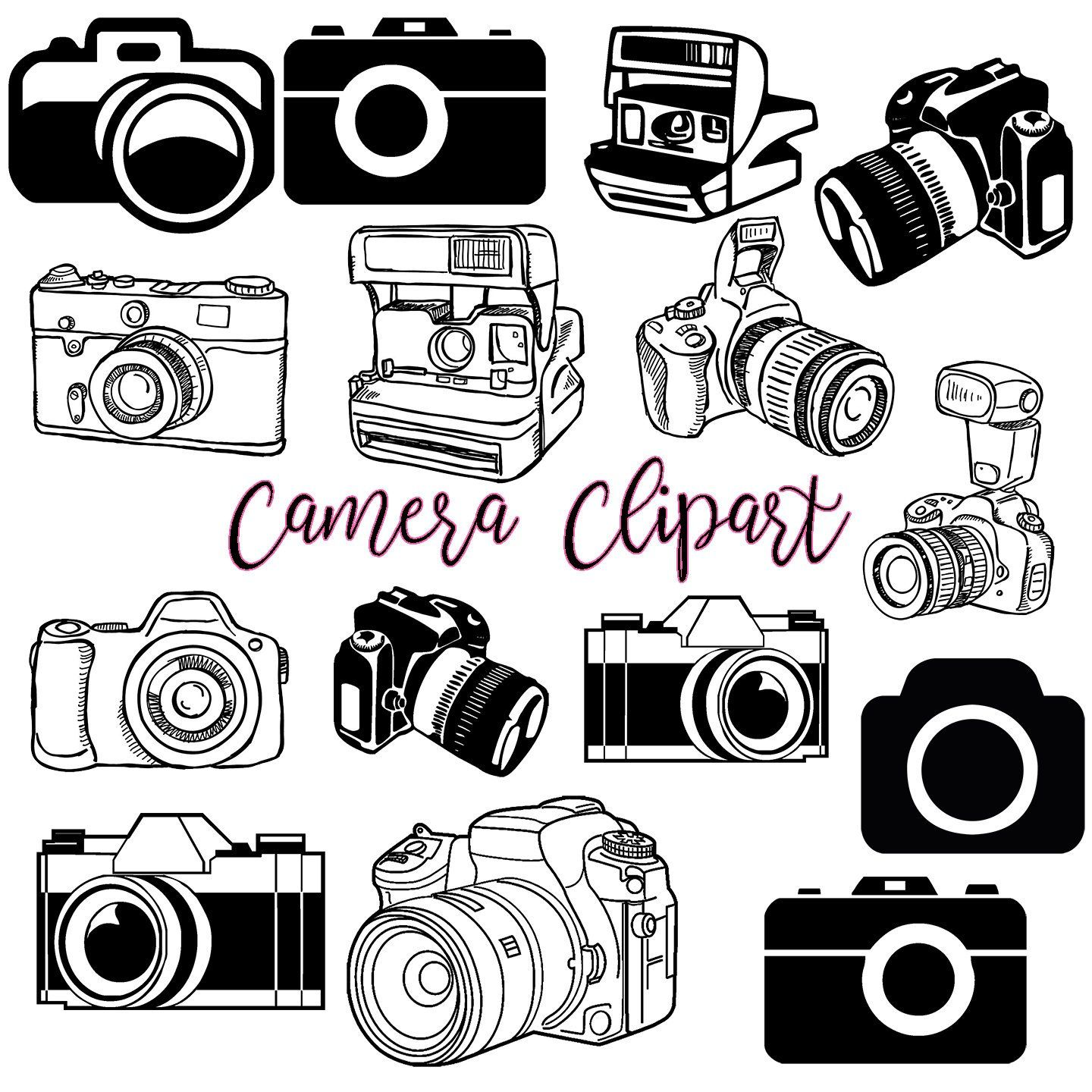 Clipart vintage camera svg freeuse stock Camera Clipart #1, Photography Clip Art Logo Elements, Stamps, Retro ... svg freeuse stock