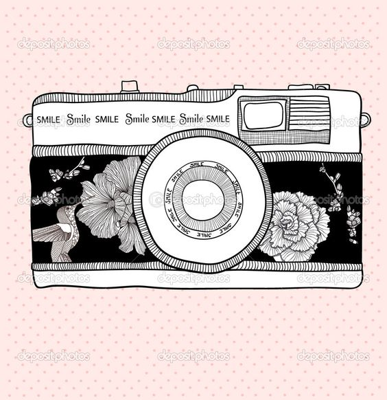 Clipart vintage camera picture black and white 100+ Vintage Camera Clipart | ClipartLook picture black and white