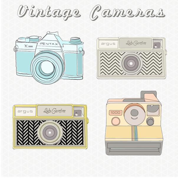 Clipart vintage camera banner freeuse Vintage Camera Images / Vintage Camera Clip Art banner freeuse