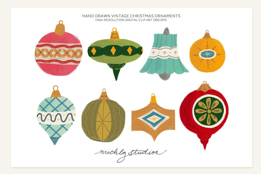 Clipart vintage christmas png library stock Vintage Christmas Ornament Clipart png library stock