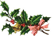 Clipart vintage christmas picture freeuse download Free Christmas Clipart: Vintage Holly - Christmas Gifts picture freeuse download