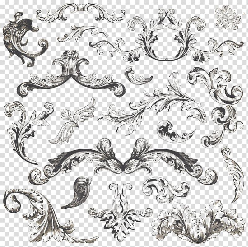Vintage filigree clipart svg royalty free stock Black floral illustration, Vintage clothing Ornament Filigree ... svg royalty free stock