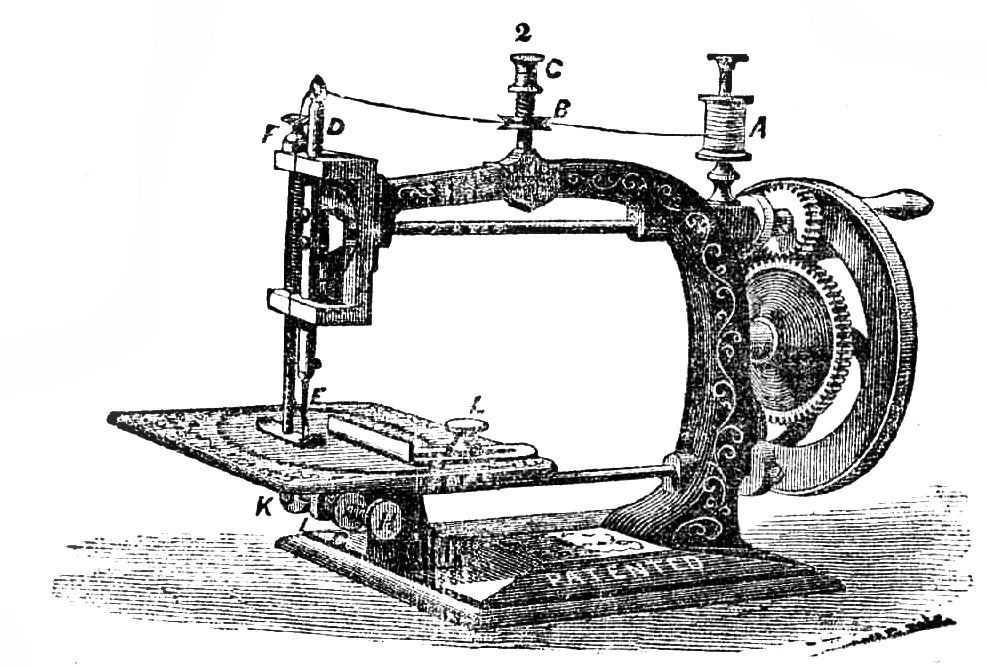 Clipart vintage sewing machine image stock Free Vintage Clip Art - Dress Forms and Sewing Machines - The ... image stock