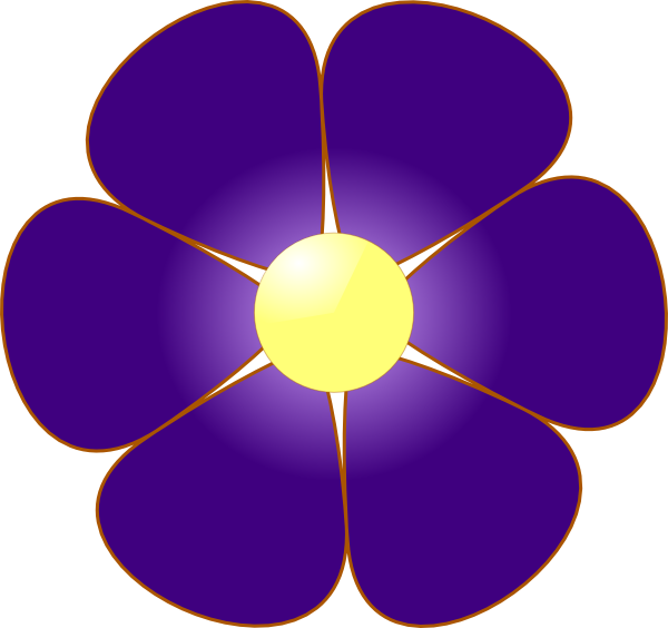 Violet flower clipart jpg transparent download Violet Flower Clip Art at Clker.com - vector clip art online ... jpg transparent download