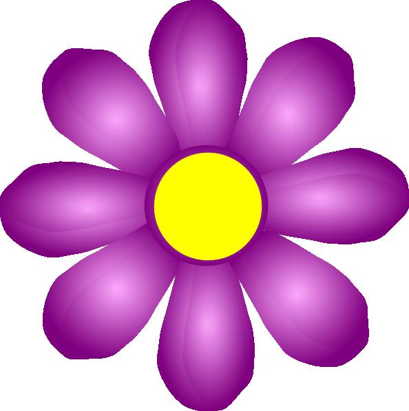 Clipart violets flowers image free stock Violet Flower Clip Art at Clker.com - vector clip art online ... image free stock