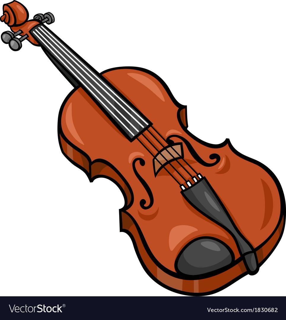 Violin clipart vector vector royalty free library Violin cartoon clip art vector royalty free library