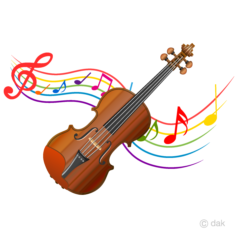 Clipart violin svg royalty free stock Violin and Music Note Waving Clipart Free Picture|Illustoon svg royalty free stock