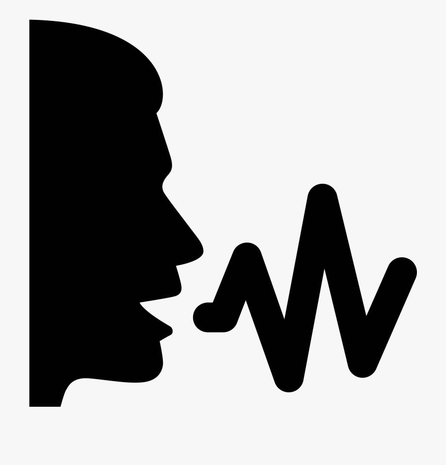 Voice clipart transparent white