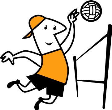 Clipart volleyball kostenlos black and white Beach volleyball clipart - ClipartFest black and white