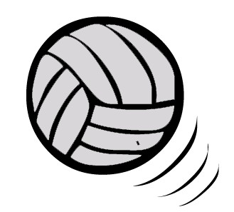 Clipart volleyball kostenlos clip library stock Free Volleyball Clipart Black And White | Clipart Panda - Free ... clip library stock