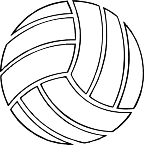 Clipart volleyball kostenlos vector free stock Free Volleyball Clipart Black And White | Clipart Panda - Free ... vector free stock