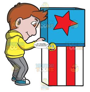 Clipart voting booth jpg royalty free download A Man Casting His Vote In The Polling Booth jpg royalty free download