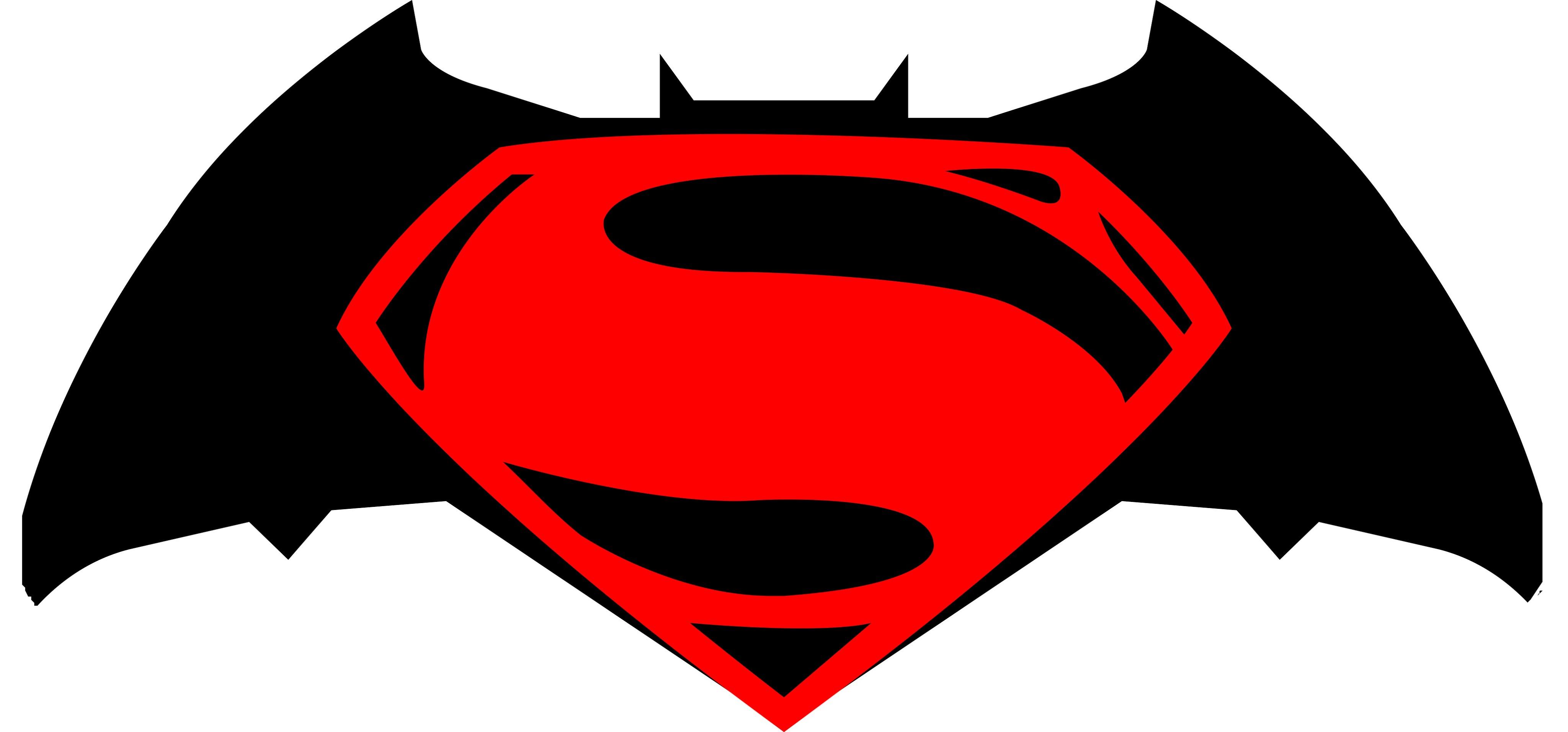 Clipart vs superman clip transparent library Drawing Logos - Batman V Superman: Dawn Of Justice - YouTube clip transparent library
