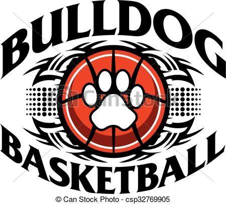 Clipart vs vector art vector transparent Vector - bulldog basketball - stock illustration, royalty free ... vector transparent