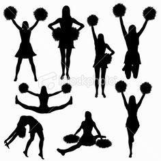 Clipart vs vector art svg royalty free stock FREE cheer sillohette clip art black and white | Cheerleader clip ... svg royalty free stock