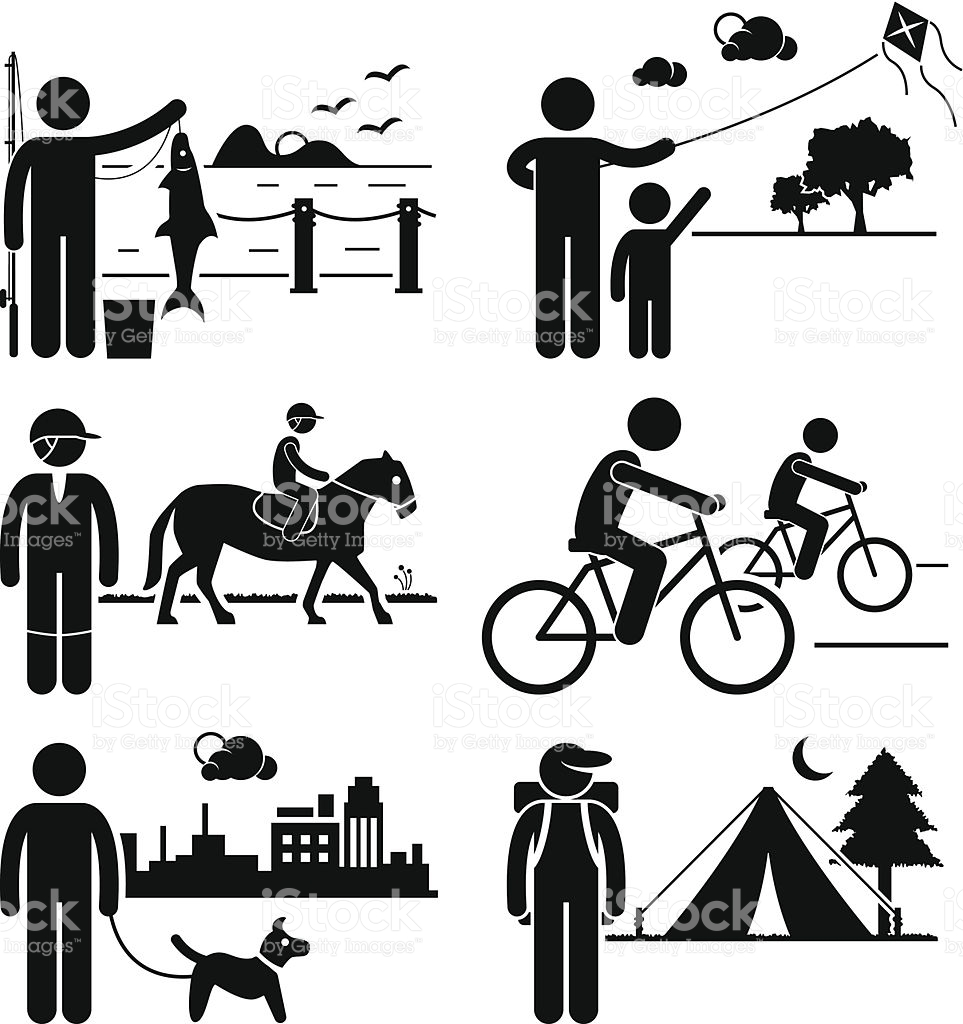 Clipart vs vector art clipart royalty free download Recreational Outdoor Leisure Activities Clipart stock vector art ... clipart royalty free download