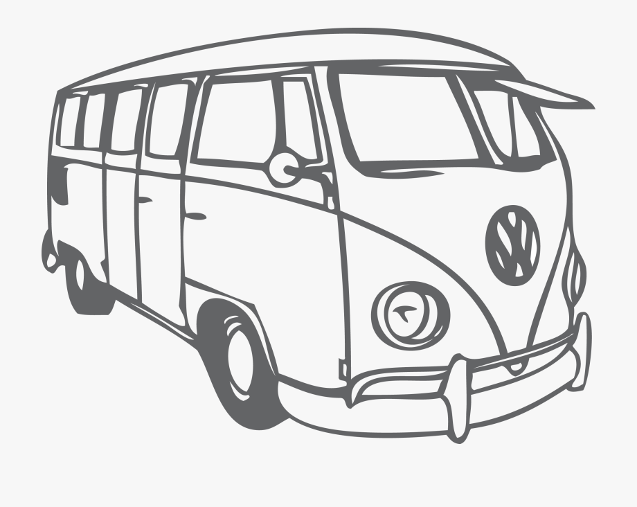 Vw bus clipart black and white png freeuse library Volkswagen Beetle Type Bus Transprent Png Free - Vw Bus Clipart ... png freeuse library