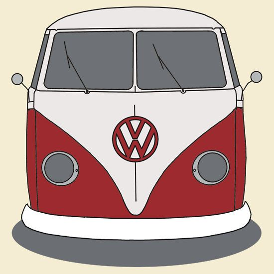 Vw camper cartoon clipart image library download free vw bus clipart - Google Search | Clipart | Car silhouette ... image library download