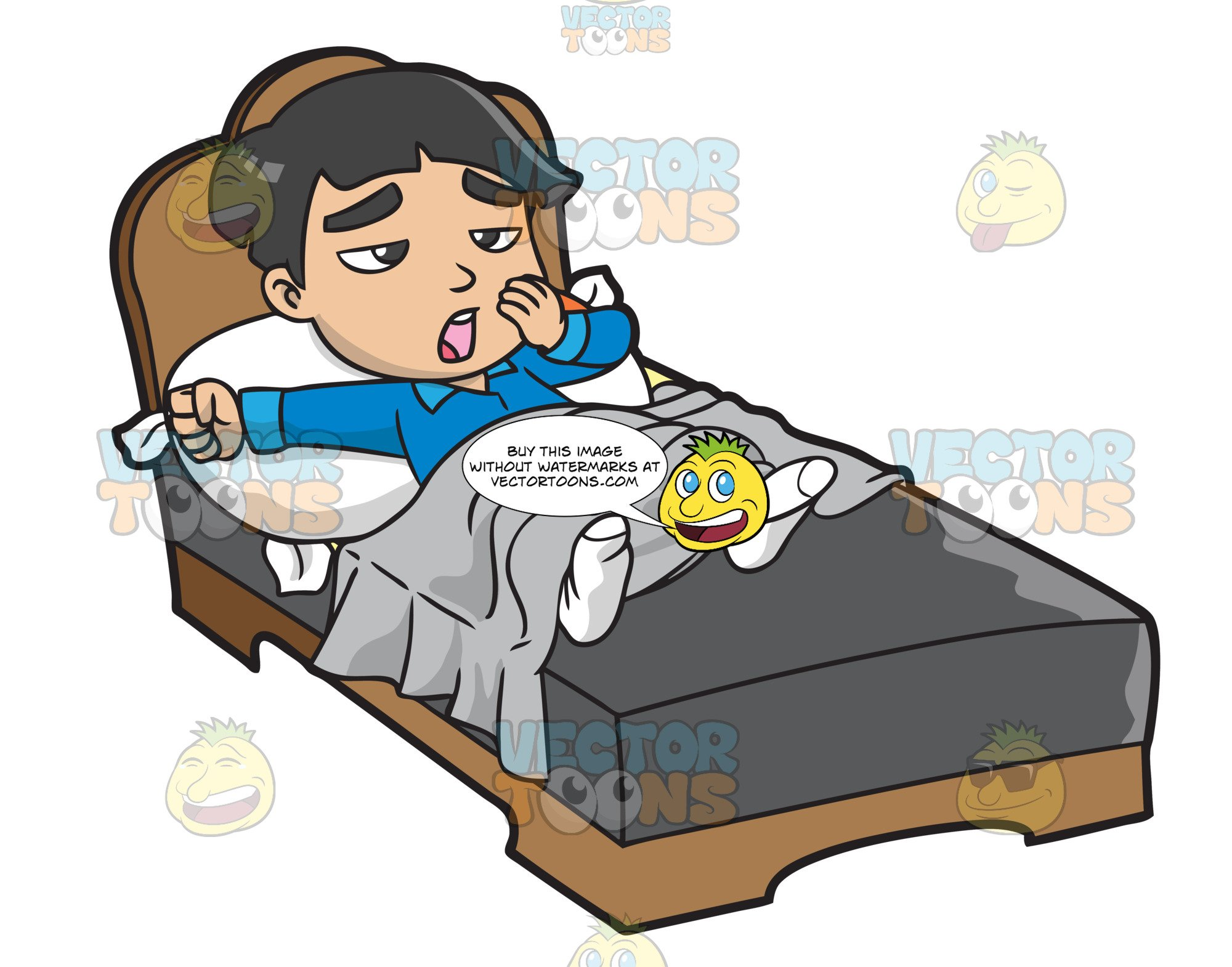 Clipart waking up in the morning clip art library stock A Young Asian Boy Waking Up In The Morning clip art library stock