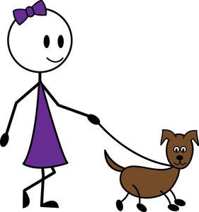 Clipart walk the dog graphic free Walking dog clip art - ClipartFest graphic free