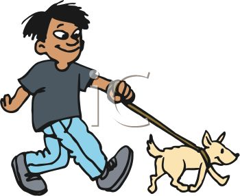 Clipart walk the dog black and white stock Dog- Walking Clipart - Clipart Kid black and white stock