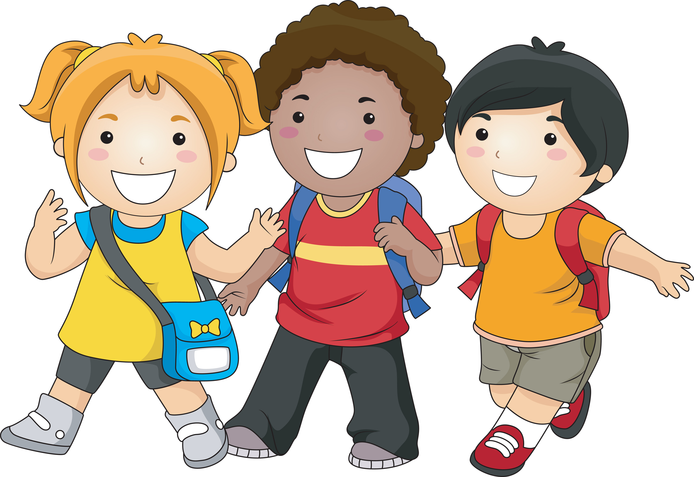 Clipart walkers from school png library download Student walking clip art - ClipartFest png library download