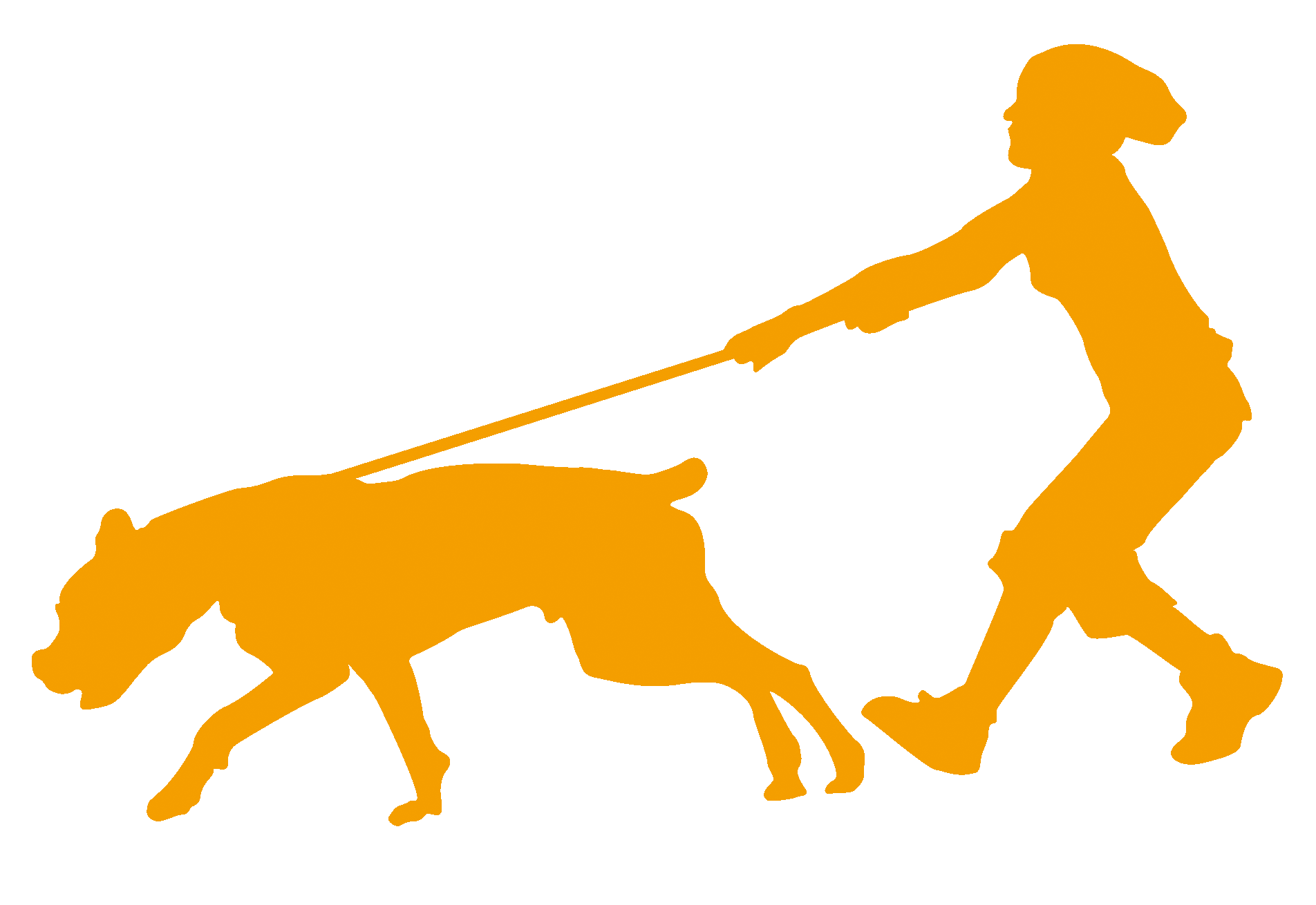 Dog running away clipart banner black and white library Silhouette Dog Walking at GetDrawings.com | Free for personal use ... banner black and white library