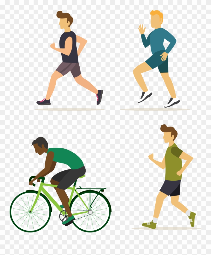 Fitness walking clipart jpg freeuse library Exercise Fitness Stretching Walking Man - Flat Icons Exercise Design ... jpg freeuse library