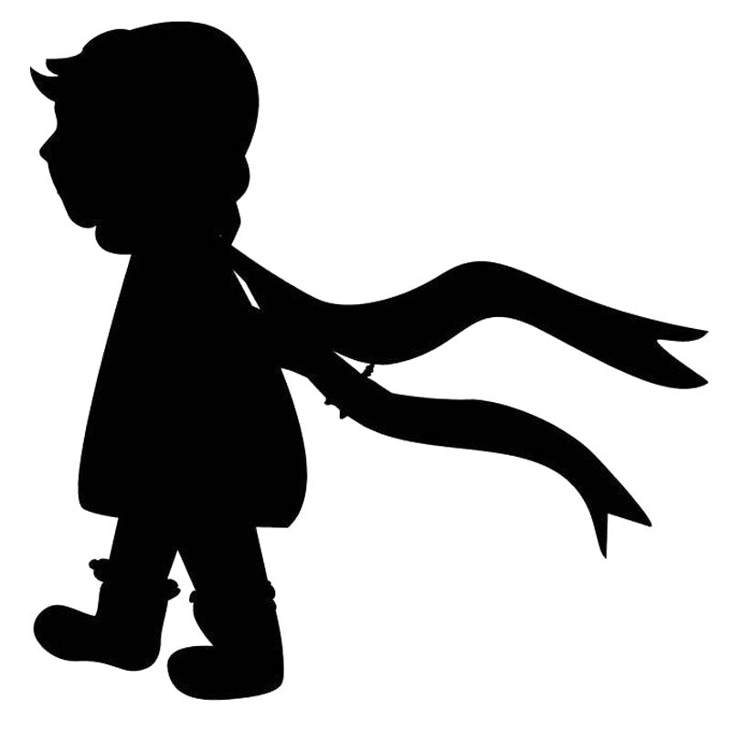 Clipart walking in the snow black and white clip art freeuse stock 16.9cm*16.9cm Child Walking Scarf Winter Snow Car Sticker Car ... clip art freeuse stock