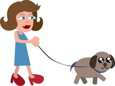Clipart walking the dog clipart black and white Woman walking dogs clipart - ClipartFest clipart black and white