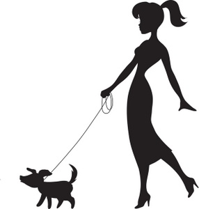 Clipart walking the dog graphic library stock Girl Walking Dog Clipart - Clipart Kid graphic library stock