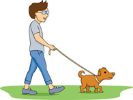 Clipart walking the dog image transparent download People walking dogs clipart - ClipartFest image transparent download