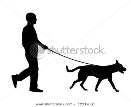 Clipart walking the dog clip transparent download Clip Art Man Walking Dogs Clipart - Clipart Kid clip transparent download