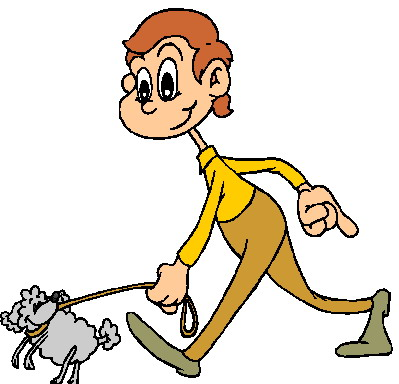 Clipart walking the dog freeuse Clipart walk the dog - ClipartFest freeuse