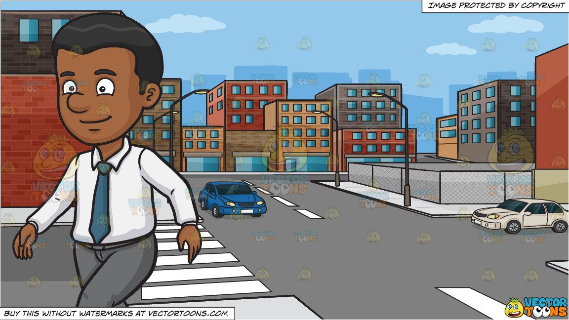Clipart walking with cars in the street black and white clip art free A Black Man Walking Alone and An Urban Street Background clip art free