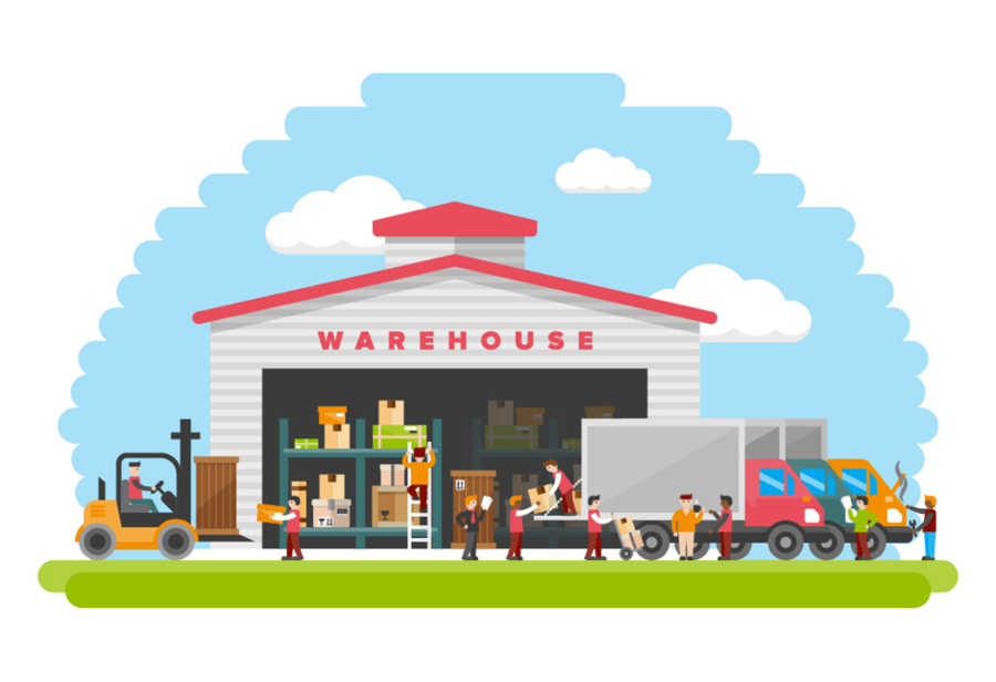 Warehouse clipart png vector royalty free download Warehouse Cartoon clipart - Product, Home, House, transparent clip art vector royalty free download