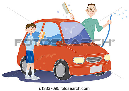 Clipart washing the car svg library library Boy washing car clipart - ClipartFox svg library library