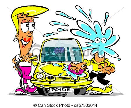 Clipart washing the car graphic freeuse Washing the car clipart - ClipartFest graphic freeuse