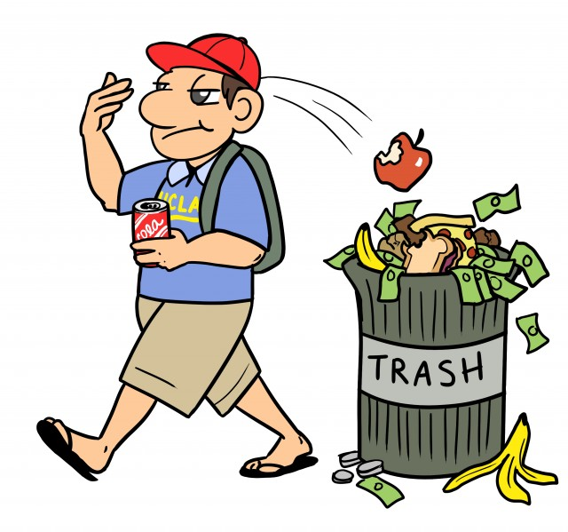Wasted food clipart clip freeuse stock Jonathan Friedland: Reducing food waste at dining halls key to ... clip freeuse stock