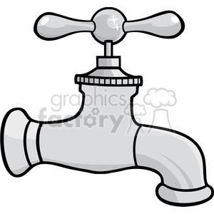 Water faucet clipart jpg library stock 12876 RF Clipart Illustration Water Faucet clipart. Royalty-free clipart #  385134 jpg library stock