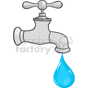 Water faucet clipart png royalty free 12878 RF Clipart Illustration Water Faucet With Water Drop clipart.  Royalty-free clipart # 385080 png royalty free
