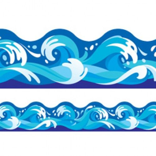 Water wave border clipart graphic royalty free ocean classroom clipart | Classroom display trimmers / borders ... graphic royalty free