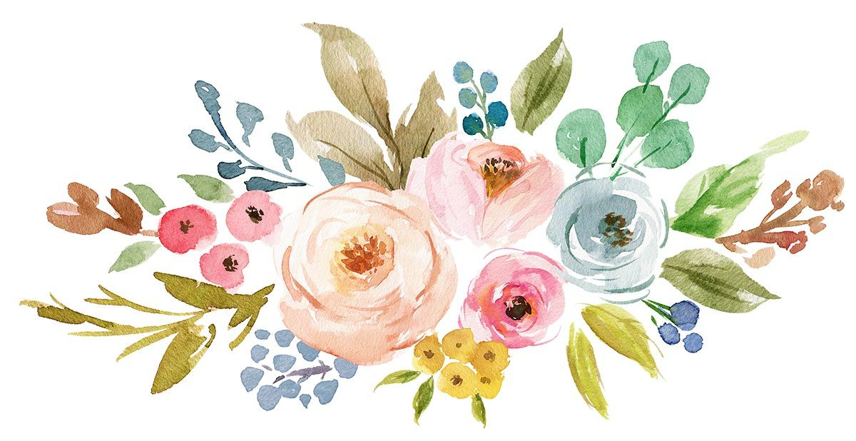 Clipart watercolor vector royalty free Wall | VK | Computer in 2019 | Watercolor, Watercolor flowers ... vector royalty free